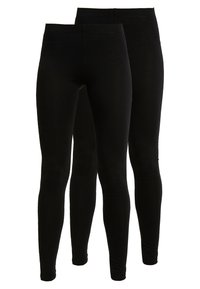 Even&Odd Tall - 2 PACK - Leggings - Trousers - black - 0