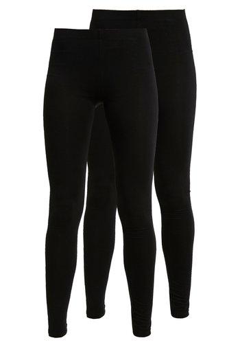 2 PACK - Leggings - black