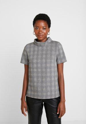 TURTLE NECK TEE - T-Shirt print - camel