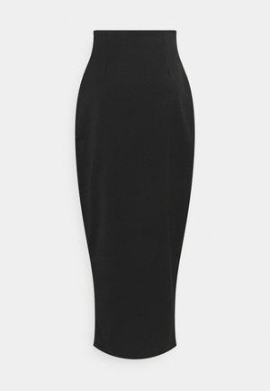 FRONT SLIT MAXI SKIRT - Pouzdrová sukně - black