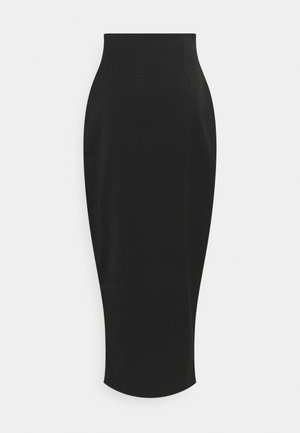 FRONT SLIT MAXI SKIRT - Spódnica ołówkowa  - black