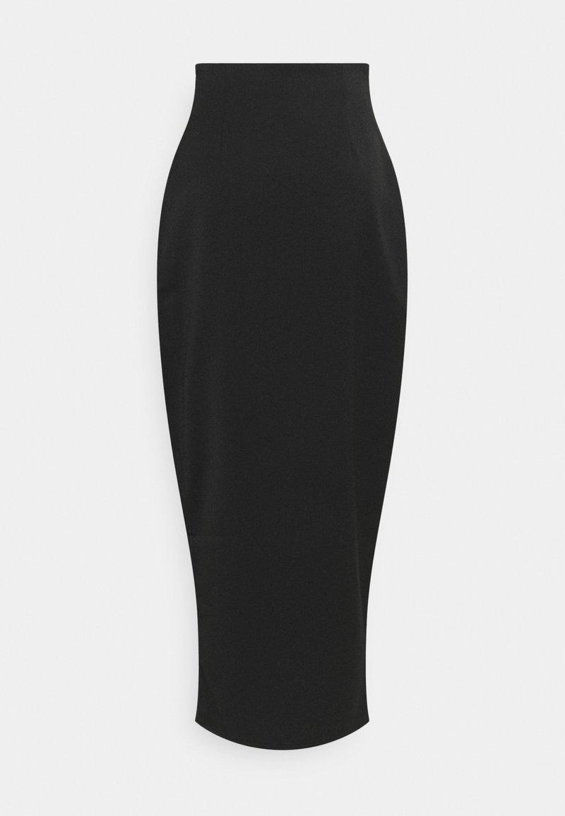 NA-KD - FRONT SLIT MAXI SKIRT - Pouzdrová sukně - black