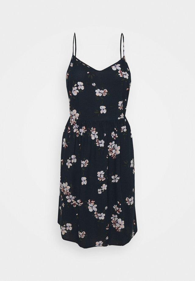 PCBEAUTY TIE DRESS - Sukienka letnia - navy blazer