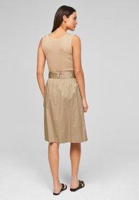 s.Oliver BLACK LABEL - A-line skirt - warm sand - 2