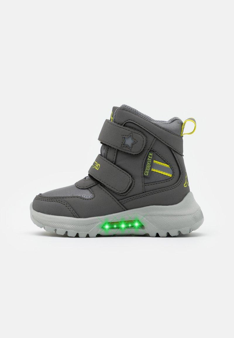 Kappa - SUPERCAL TEX UNISEX - Hiking shoes - grey/lime