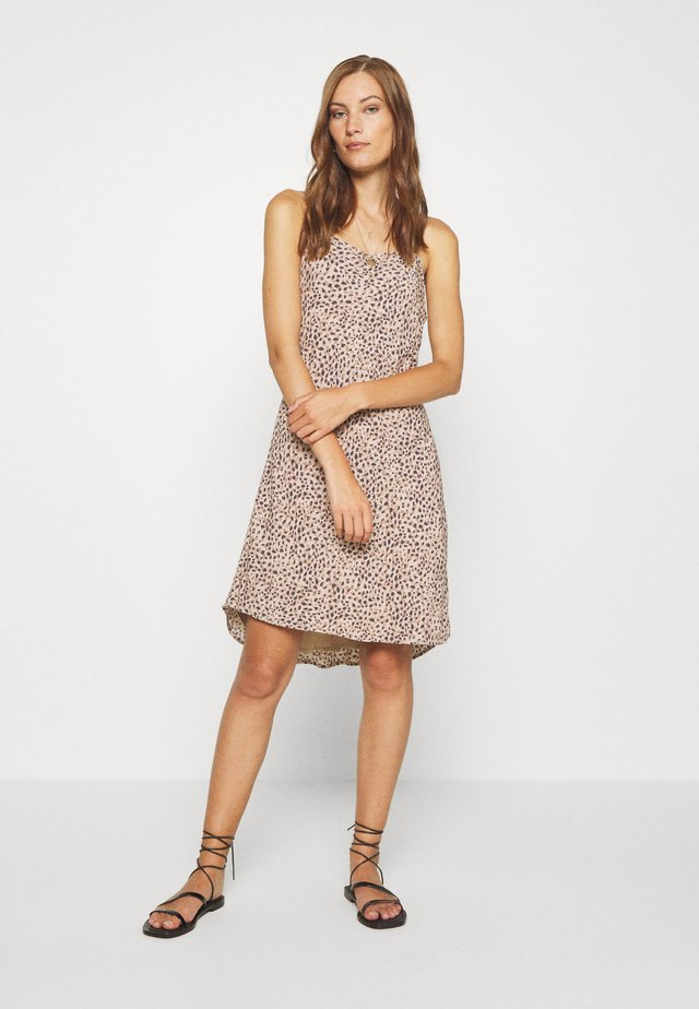 BIAS CUT SLIP DRESS - Korte jurk - light brown