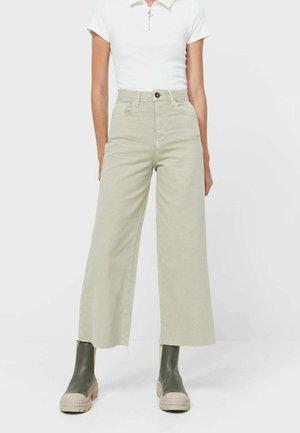 Flared jeans - khaki