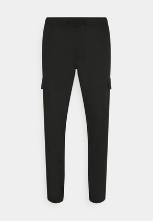 FINE - Cargo trousers - black