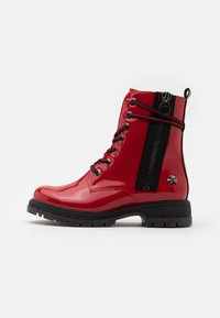 Marco Tozzi by Guido Maria Kretschmer - Lace-up ankle boots - red - 1