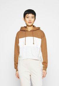 Abercrombie & Fitch - HOODIE - Sweatshirt - tan - 0