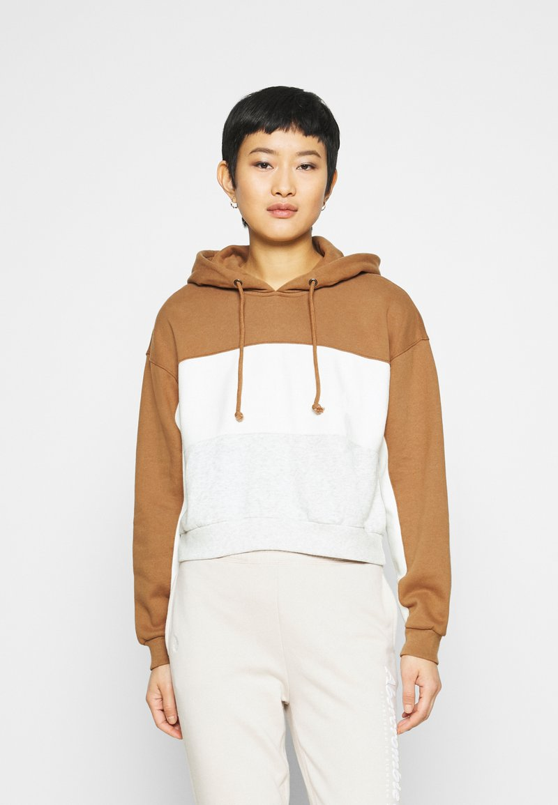 Abercrombie & Fitch - HOODIE - Sweatshirt - tan