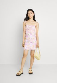 NEW girl ORDER - PATCHWORK BODYCON DRESS - Shift dress - multicoloured - 1