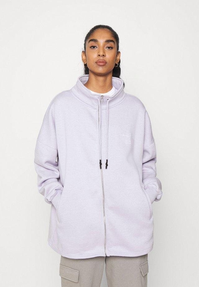 OVERSIZED ZIP FRONT - Zip-up hoodie - lilac