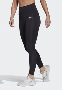 adidas Performance - FEELBRILLIANT DESIGNED TO MOVE TIGHTS - Leggings - black/white - 2