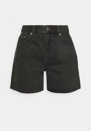 SHORTS - Shorts vaqueros - black