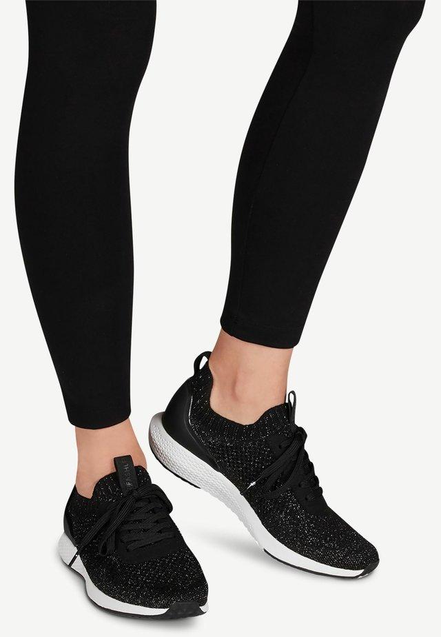 Sneakers - black silver