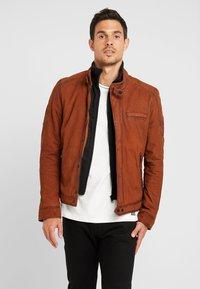 Oakwood - JAYDEN - Leather jacket - whisky - 0