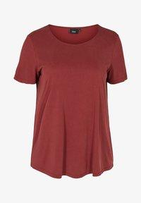Zizzi - Basic T-shirt - madder brown - 3