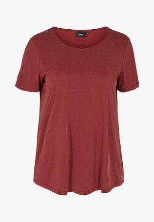 Camiseta básica - madder brown