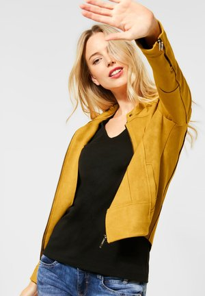 Faux leather jacket - gelb