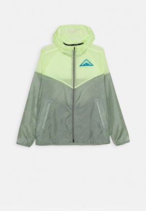 TRAIL - Cortaviento - particle grey/barely volt/laser blue