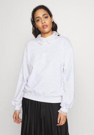 BOUTIQUE COLLAR - Sweatshirt - grey marl