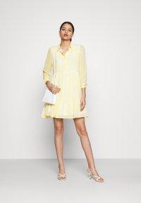 Vila - VIPLISSEA SHIRT DRESS - Shirt dress - spicy mustard - 1