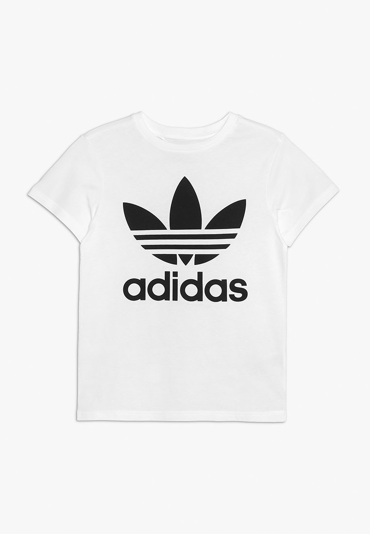 adidas Originals - TREFOIL - Print T-shirt - white/black