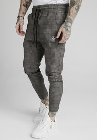 SIKSILK - SMART JOGGER PANT - Trousers - beige dogtooth - 0