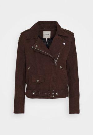 SEASONAL - Faux leather jacket - chicory coffee