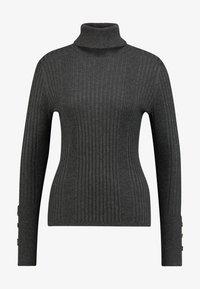 Freequent - Sweter - dark grey melange - 4