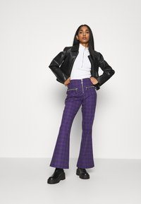 The Ragged Priest - BECK FLARED ZIP POCKETS - Trousers - purple - 1