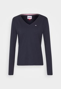 Tommy Jeans - V NECK LONGSLEEVE - T-shirt à manches longues - twilight navy - 3