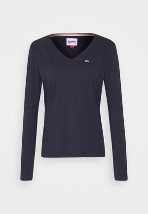 V NECK LONGSLEEVE - Long sleeved top - twilight navy