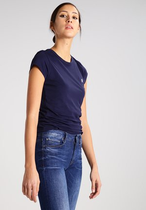 EYBEN SLIM - Basic T-shirt - sartho blue
