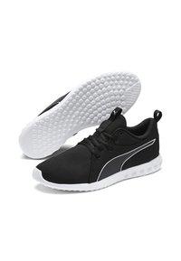 Puma - CARSON - Laufschuh Neutral - black-white - 2