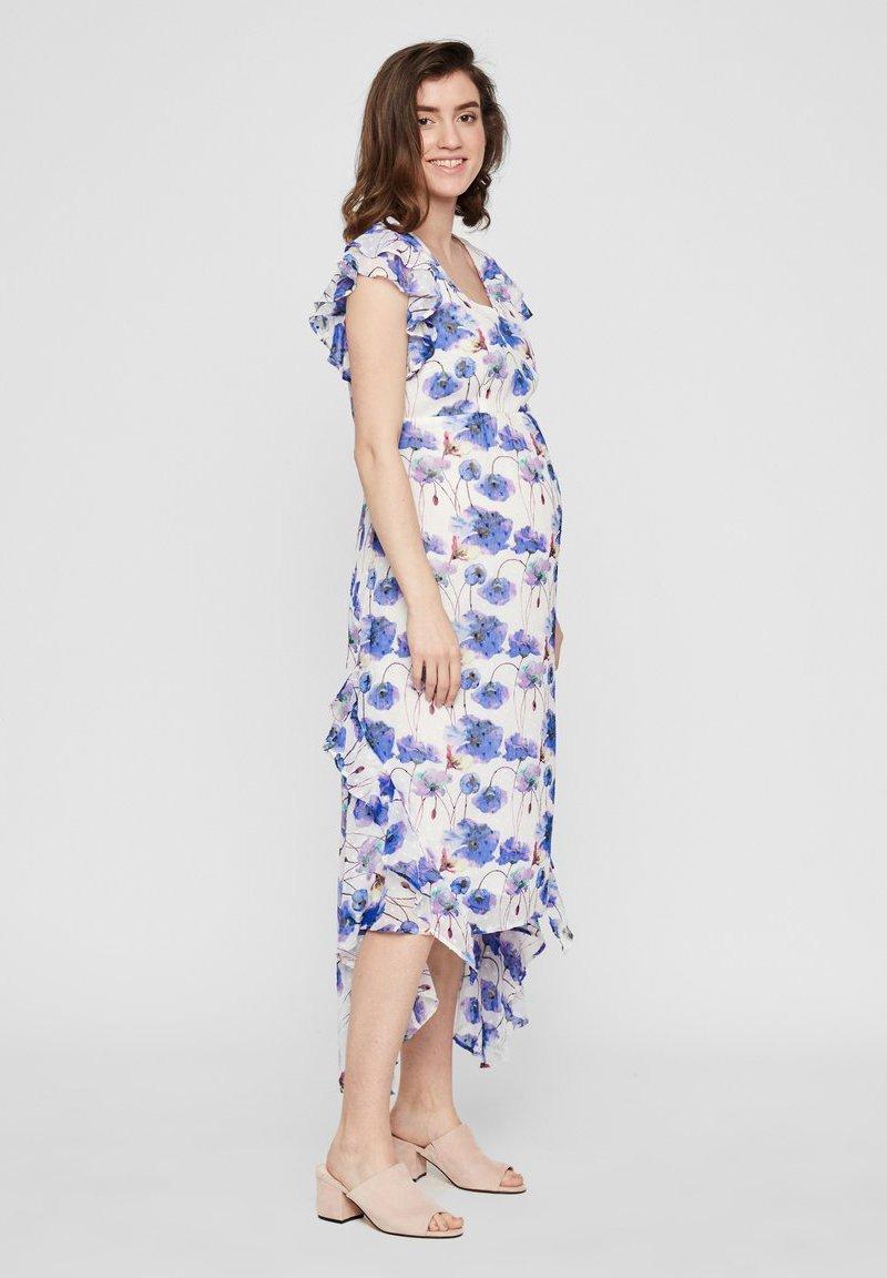 Mamalicious Umstandskleid Kurz Florales Viskose - Day Dress Snow White