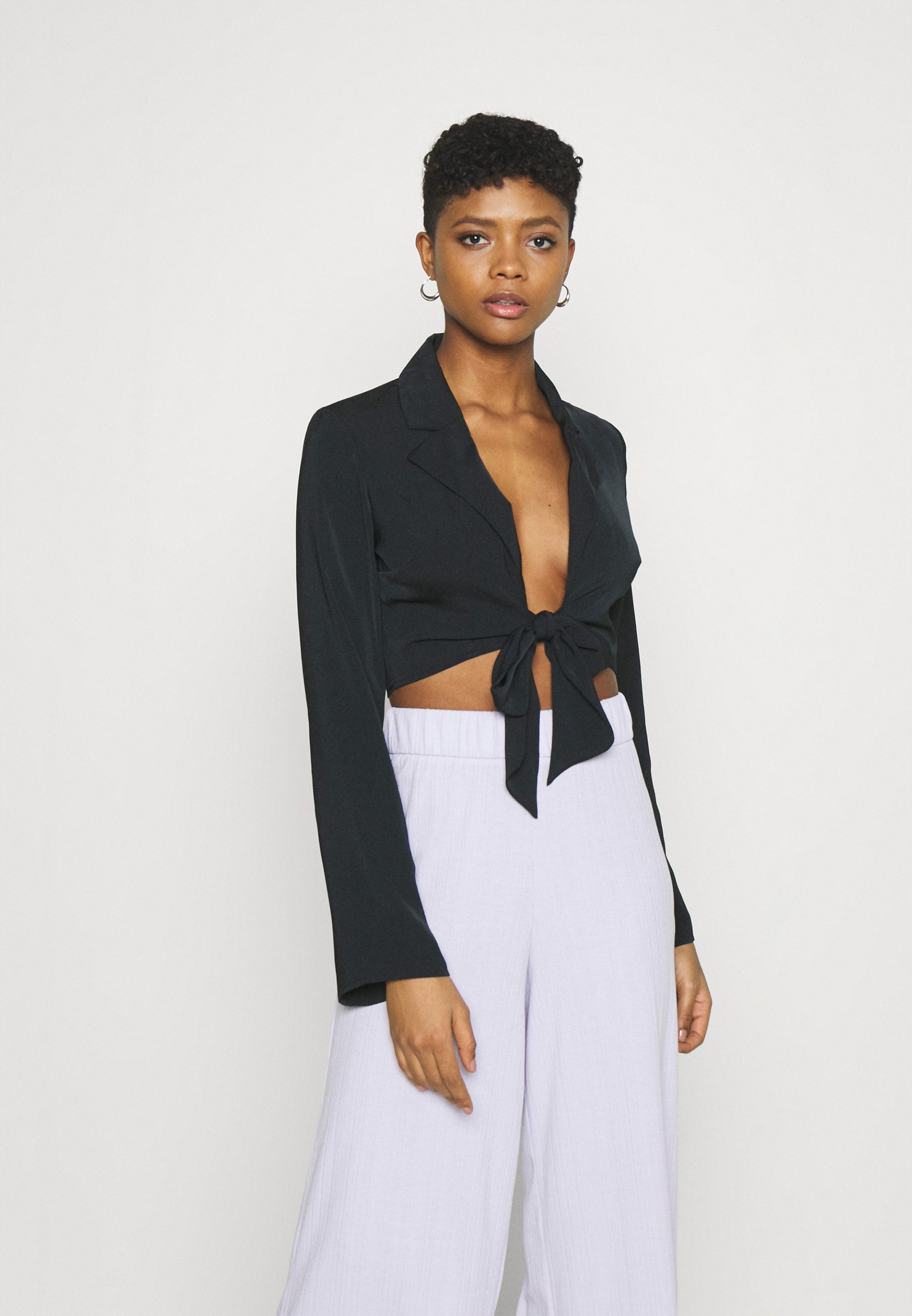 Women FRONT TIE BLOUSE - Long sleeved top