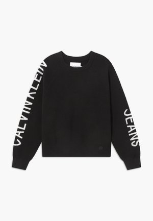 SLEEVES LOGO - Strikpullover /Striktrøjer - black