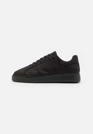 LEATHER UNISEX - Sneakersy niskie - black