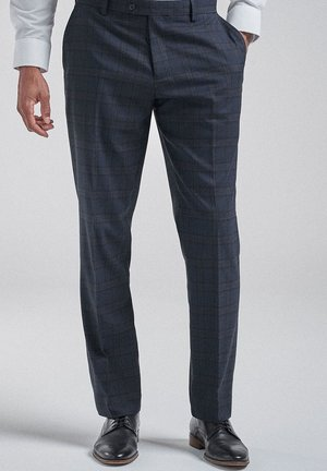 CHECK SUIT: TROUSERS-REGULAR FIT - Pantaloni eleganti - blue