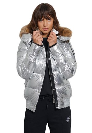 Winterjacke - silver metallic