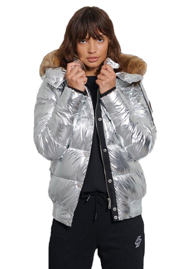 Kurtka zimowa - silver metallic