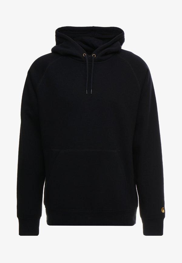 Carhartt WIP HOODED CHASE - Bluza z kapturem - dark navy/gold/granatowy Odzież Męska YLAR