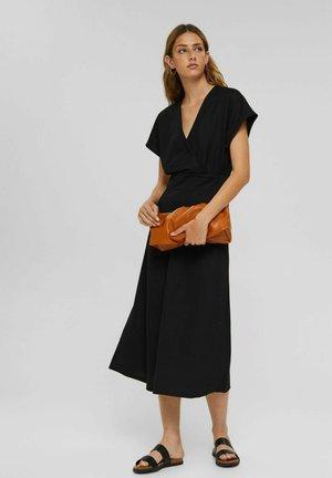 WRAP - Maxi dress - black
