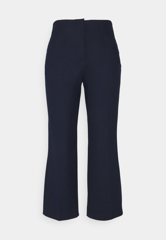 SLFLINA WIDE ANKLE PANT - Trousers - sky captain