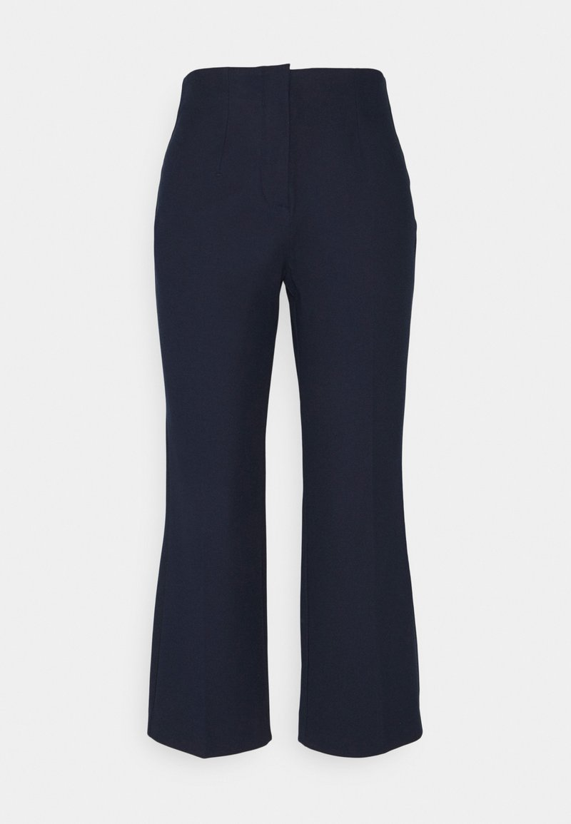 Selected Femme Petite - SLFLINA WIDE ANKLE PANT - Trousers - sky captain