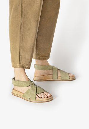 Ankle cuff sandals - nb olive uol