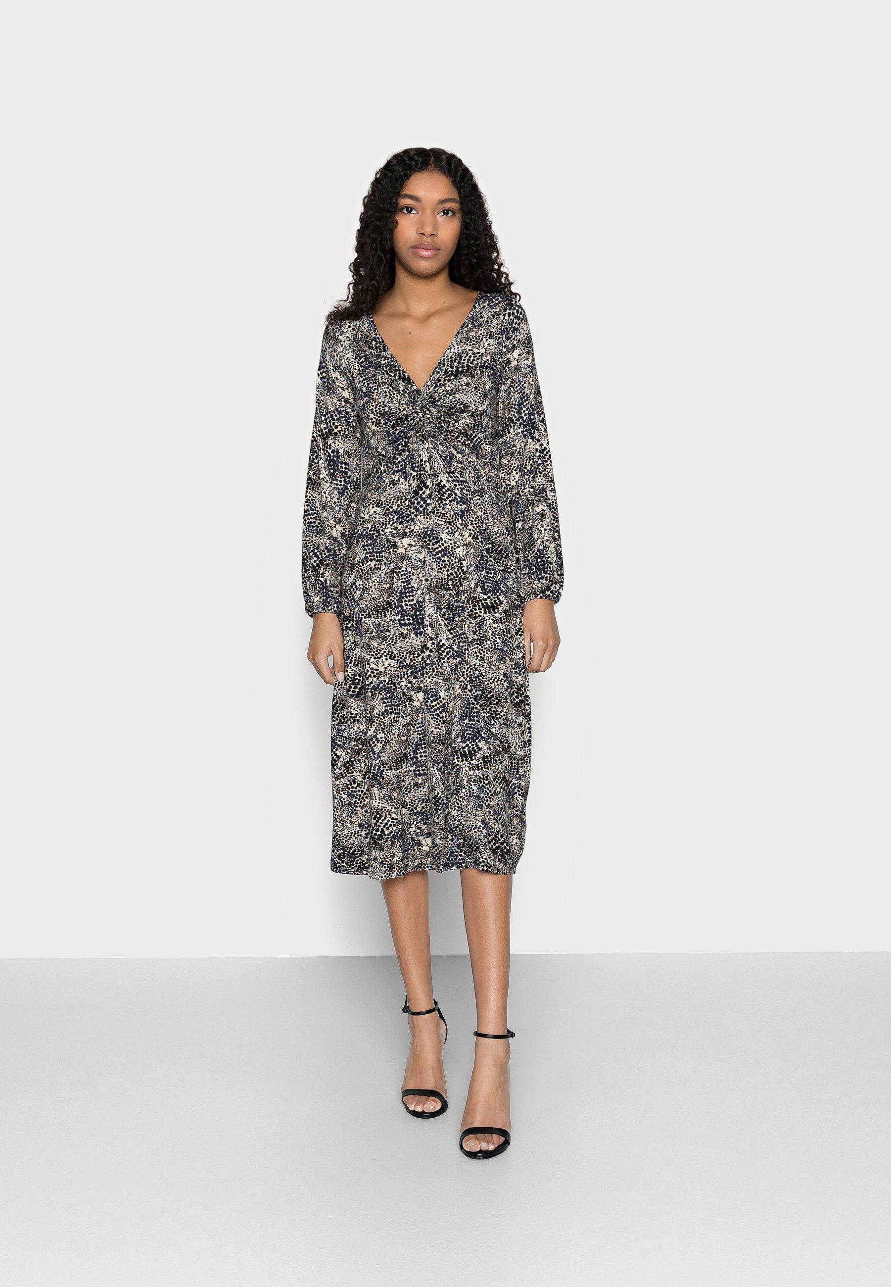 Women SPOT SNAKE DRESS - Jersey dress