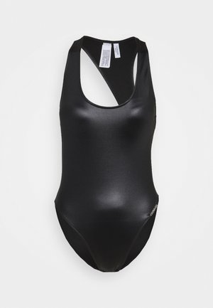 CORE ESSENTIALS SCOOP BACK ONE PIECE - Kostium kąpielowy - black